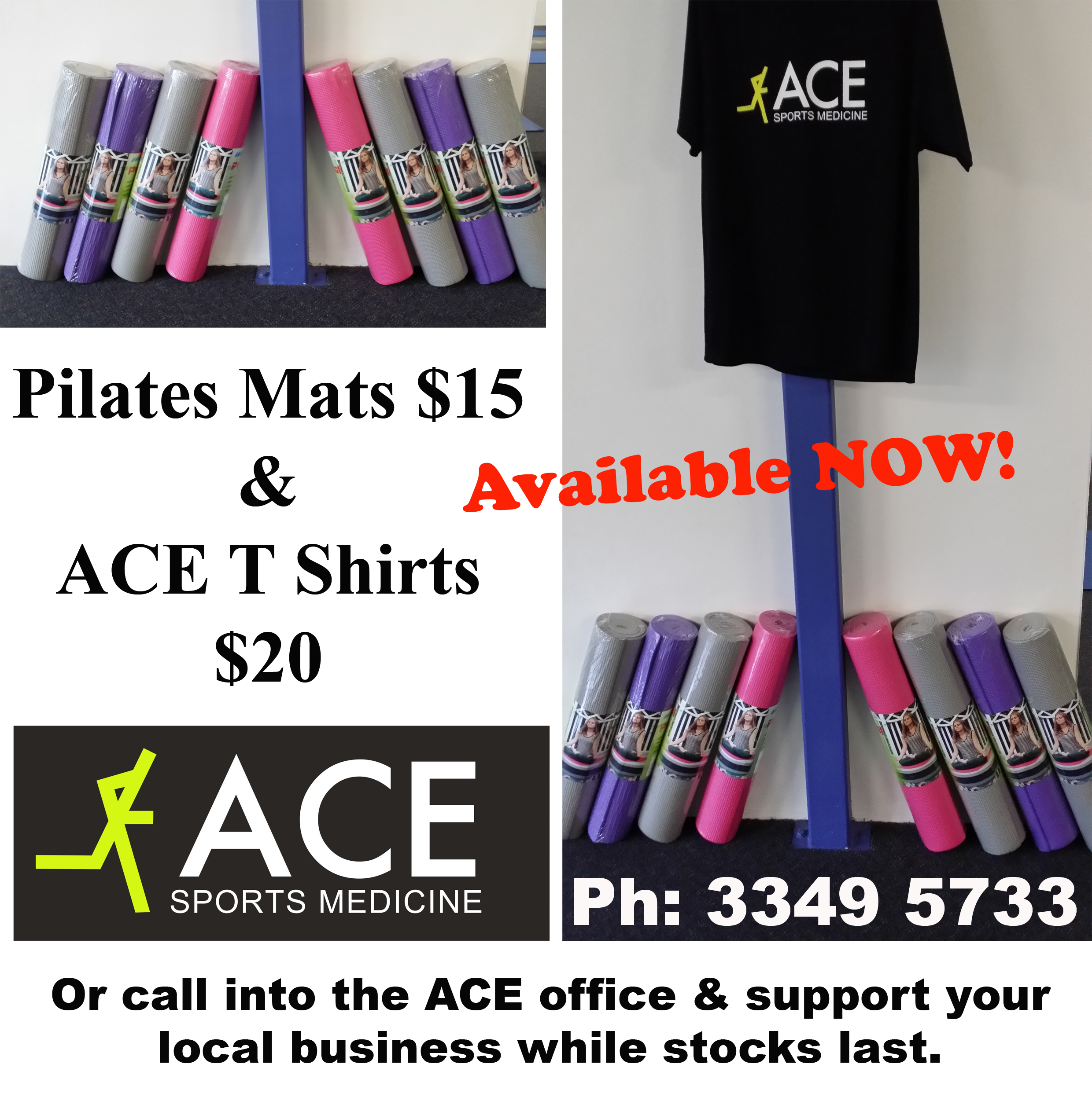 Ace Pilates Mats + TShirts copy